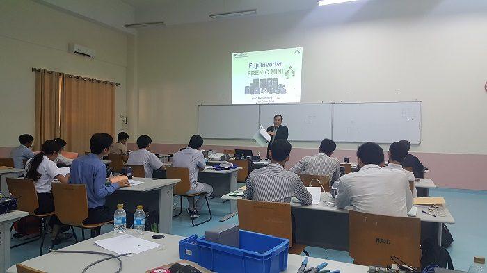 Hạo Phương và Fuji Electric hỗ trợ thiết bị cho học viện Cambodia