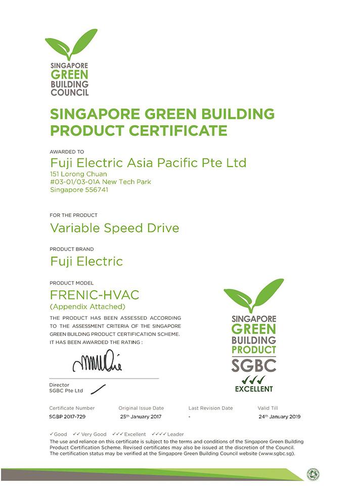 Biến tần Fuji Frenic AQUA và MEGA được chứng nhận sản phẩm xanh, ảnh 1