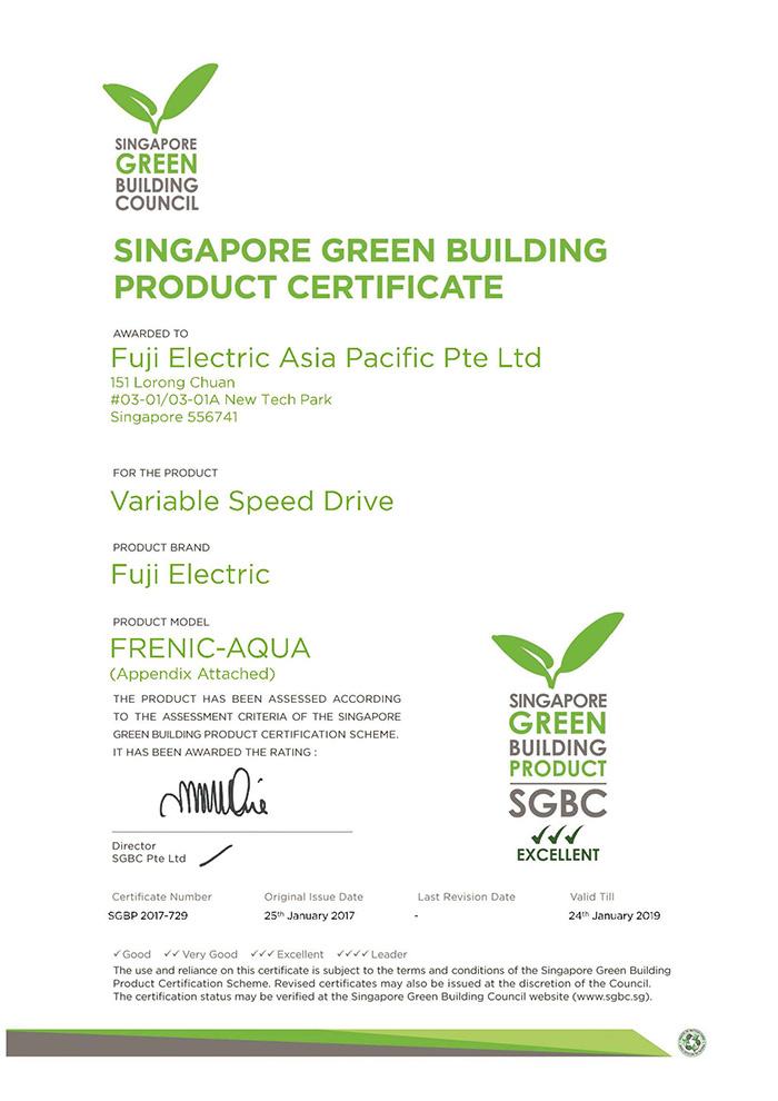 Biến tần Fuji Frenic AQUA và MEGA được chứng nhận sản phẩm xanh, ảnh 2