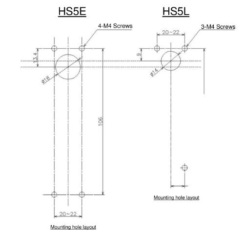 Kích thước nút khóa của HS5L cũng được thiết kế khác so với HS5E