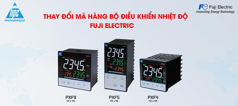 thay đổi mã hàng bộ điều khiển nhiệt độ dòng PXF Fuji Electric