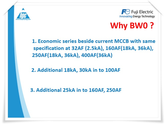 MCCB BWO Fuji Electric, ảnh 2