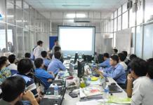 Hạo Phương đào tạo kỹ năng lập trình thang máy cho đội ngũ kỹ sư và nhân viên kỹ thuật