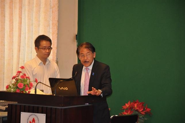 Ông Sakamoto Kenji đại diện tập đoàn Fuji Electric