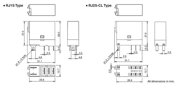 Kích thước relay idec