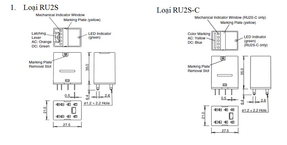 loại ru2s và ru2s-c