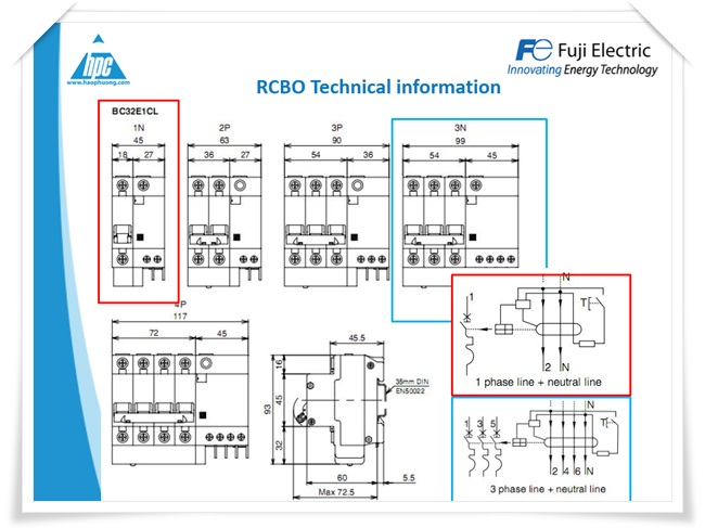 RCBO Fuji Electric, ảnh 3