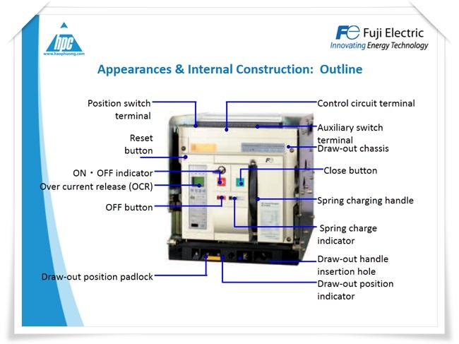 Máy cắt hạ thế ACB Fuji Electric, ảnh 3