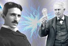Nikola Tesla và Thomas Edison