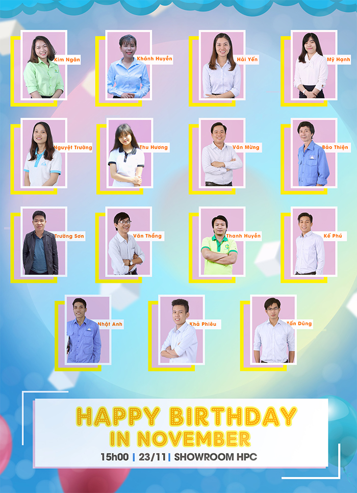 sinh nhật các thành viên hạo phương tháng 11/2018