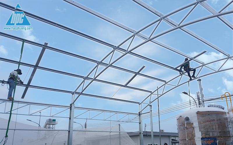 dự án xây dựng nhà xử lý nước mặn nuôi tôm giống