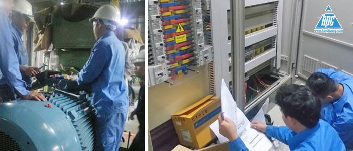 Đấu nối motor 355 kw và lắp thiết bị mới cho tủ MCC32