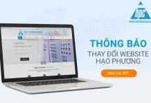 Thông báo thay đổi hệ thống website Hạo Phương