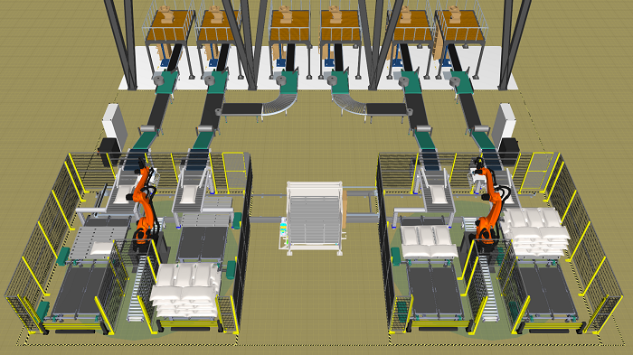 Demo hệ thống Robot xếp bao