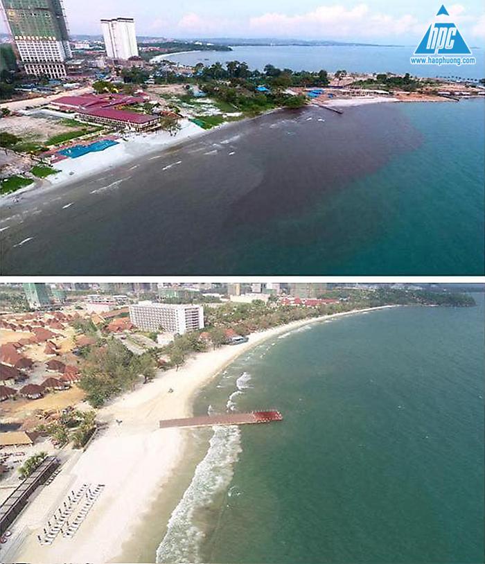 Trước và sau khi có trạm bơm nước thải 1