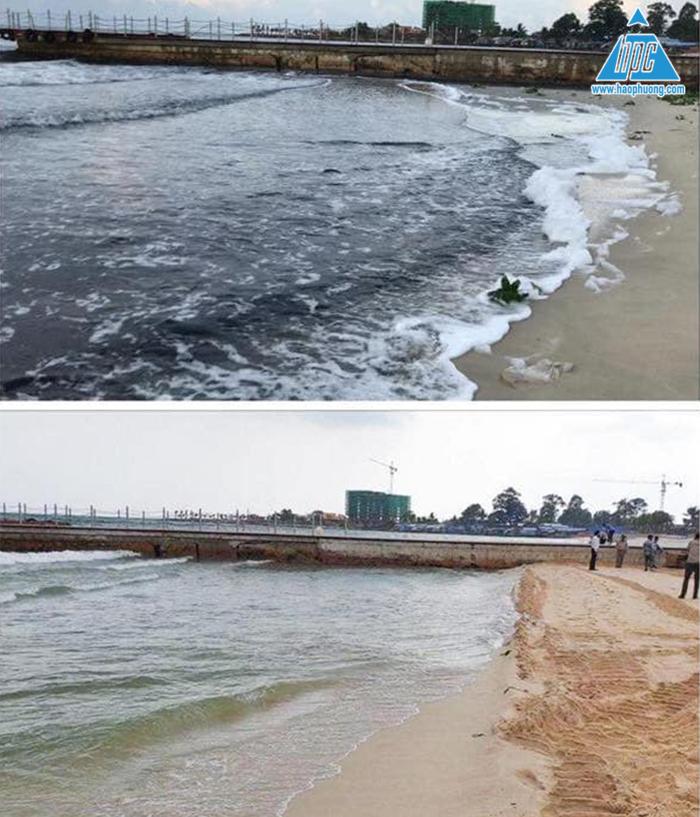 Trước và sau khi có trạm bơm nước thải 2