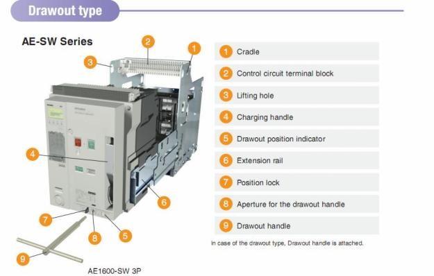 cấu tạo máy cắt không khí acb