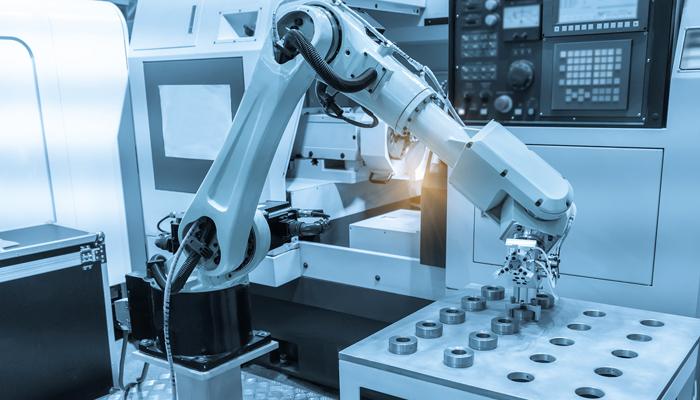Cánh tay robot trong các nhà máy