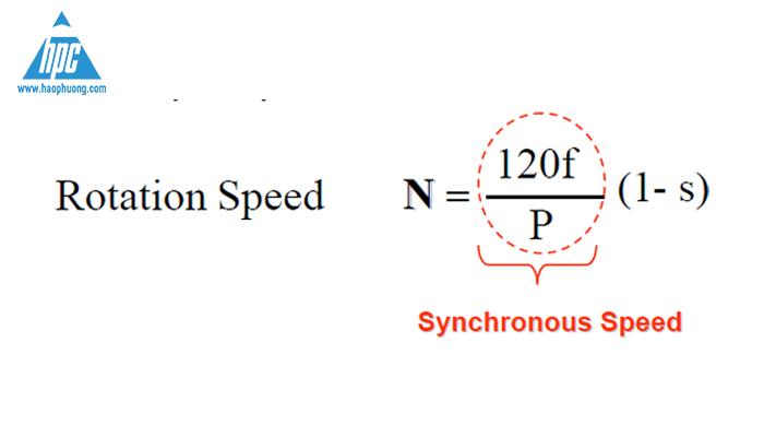 Công thức tốc độ động cơ xoay chiều 3 pha