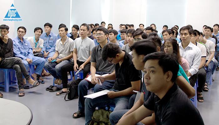 Nhân viên Hạo Phương tham gia buổi huấn luyện An toàn - vệ sinh lao động