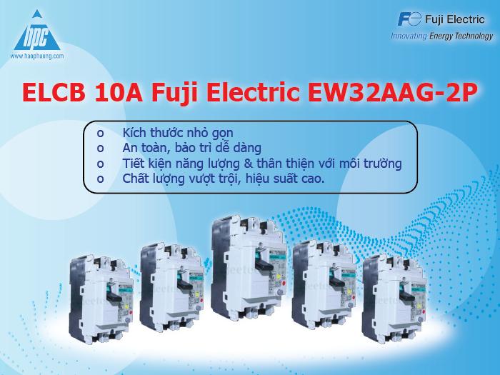 ELCB Fuji Electric 10A EW32AAG 2P