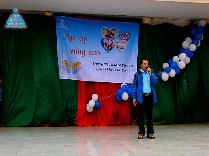 Anh Trần Hồng Hải phát biểu khai mạc chương trình