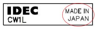IDEC thông báo thay đổi cách in thông tin xuất xứ