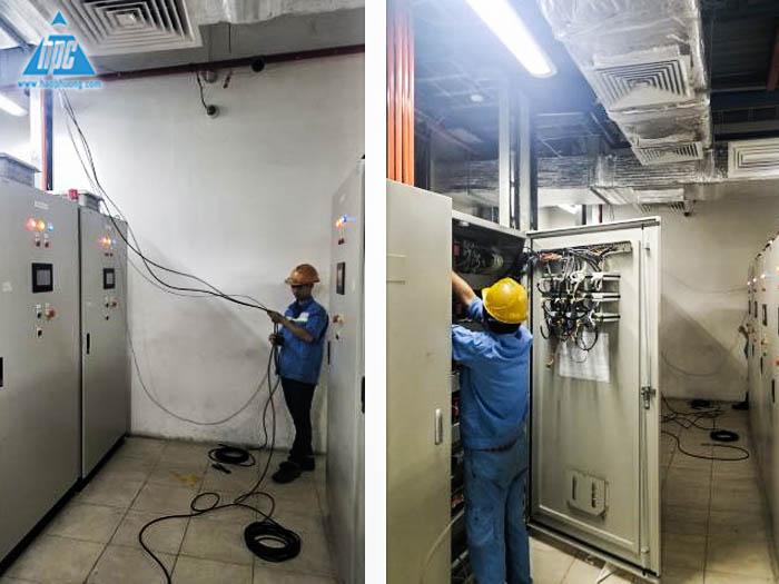 Kéo dây RS485 từ tủ PLP sang tủ PLC S3
