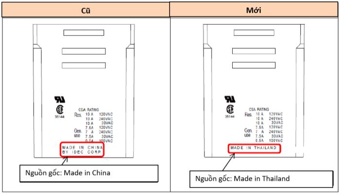 Nơi sản xuất của dòng relay RR sẽ chuyển từ Trung Quốc sang Thái Lan