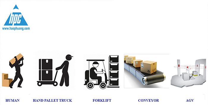 AGV vận chuyển hàng hóa thông minh