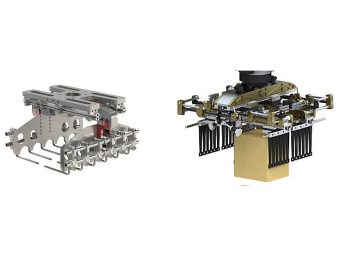 Gripper có thể được thay đổi linh hoạt sao cho phù hợp với nhu cầu sử dụng robot xếp hàng hóa