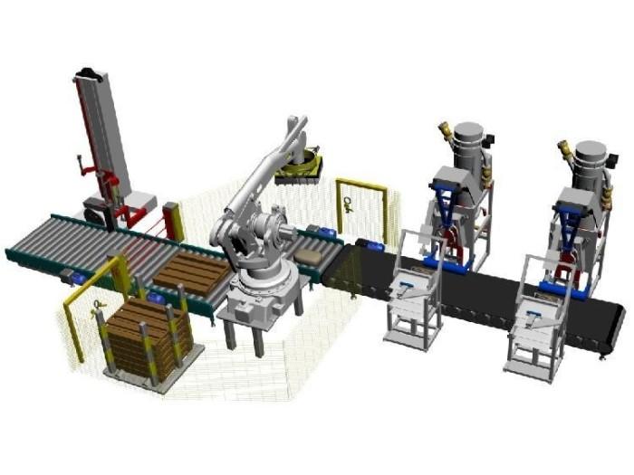 Các hệ thống đi kèm robot xếp hàng hóa