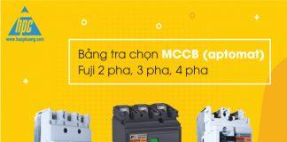 Bảng tra chọn MCCB Fuji