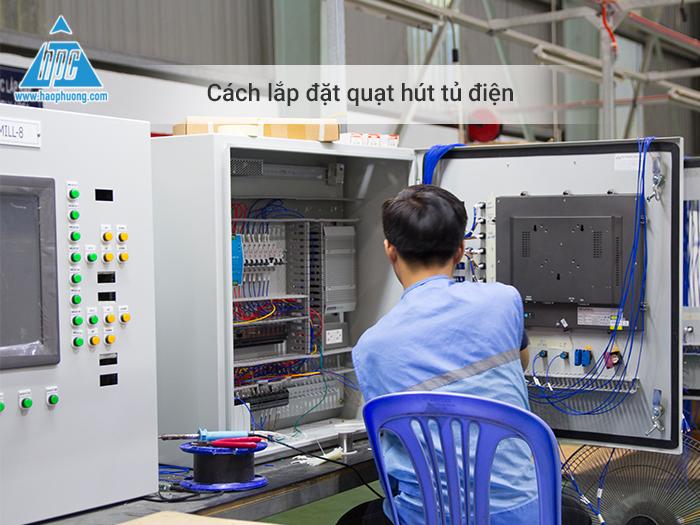 cách lắp đặt quạt hút tủ điện
