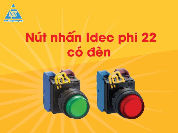 Nút nhấn tự giữ phi 22 có đèn