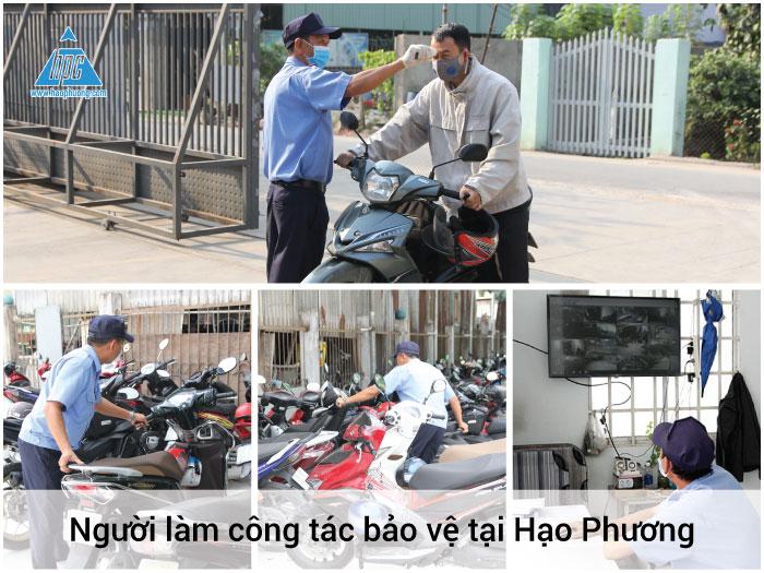 Người làm công tác bảo vệ tại Hạo Phương