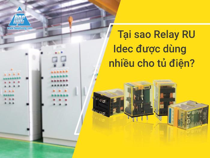 Relay RU được sử dụng phổ biến cho tủ điện