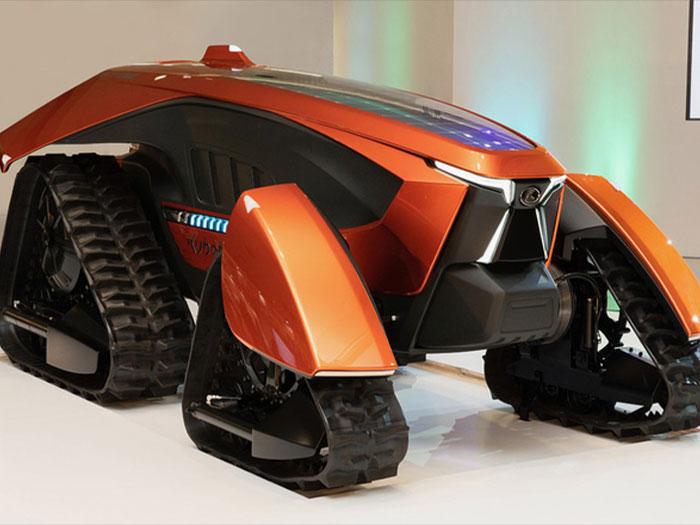 Kubota tiết lộ máy kéo tự động chạy điện trông như siêu xe viễn tưởng