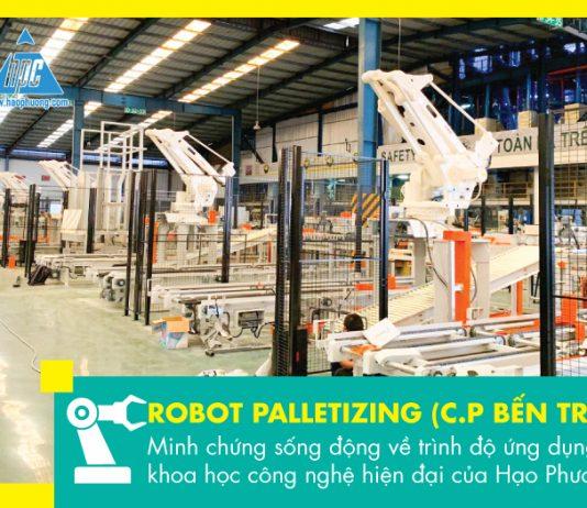 Robot palletizing
