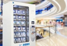 """""""Hỗ trợ kháng khuẩn"""" – Cải tiến mới trong máy bán khẩu trang tự động của Fuji Electric"""