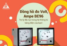 Đồng hồ đo Volt, Ampe BE96 - Trợ lý đắc lực trong hệ thống tủ bảng điện của bạn!