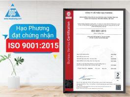 Hạo Phương đạt chứng nhận ISO 9001:2015