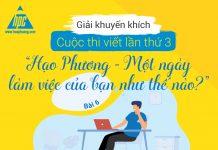 """Giải khuyến khích cuộc thi viết lần thứ 3 """"Hạo Phương – Một ngày làm việc của bạn như thế nào?"""" (Bài 6)"""