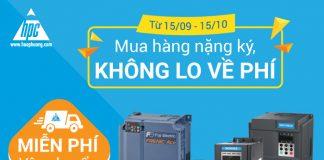 Hạo Phương khuyến mãi miễn phsi vận chuyển khi mua biến tần