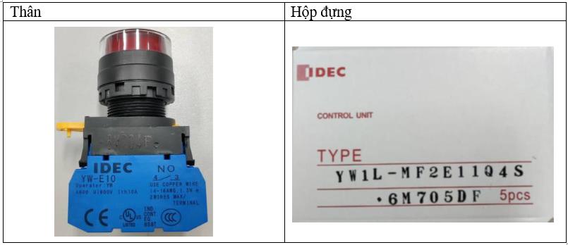 Thông báo của IDEC
