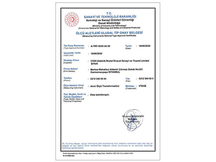 giấy chứng nhận tiêu chuẩn quốc gia