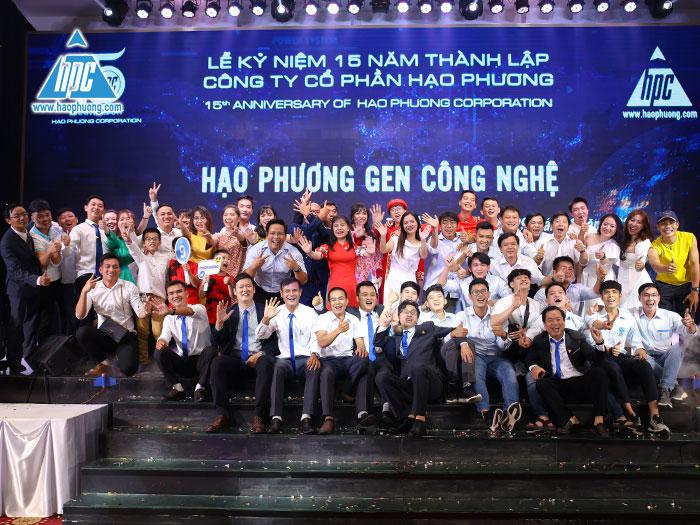 Tập thể cán bộ, nhân viên công ty Hạo PHương tại sự kiện
