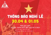 Hạo Phương thông báo lịch nghỉ lễ 30/04 và 01/5 năm 2021