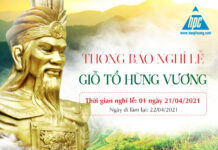 Thông báo nghỉ lễ Giỗ tổ Hùng Vương 2021