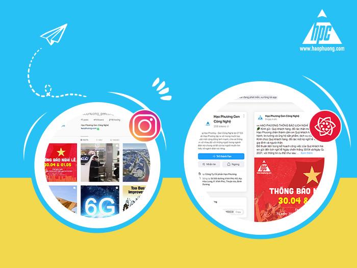 Hạo Phương chính thức triển khai hoạt động trên Instagram và Lotus